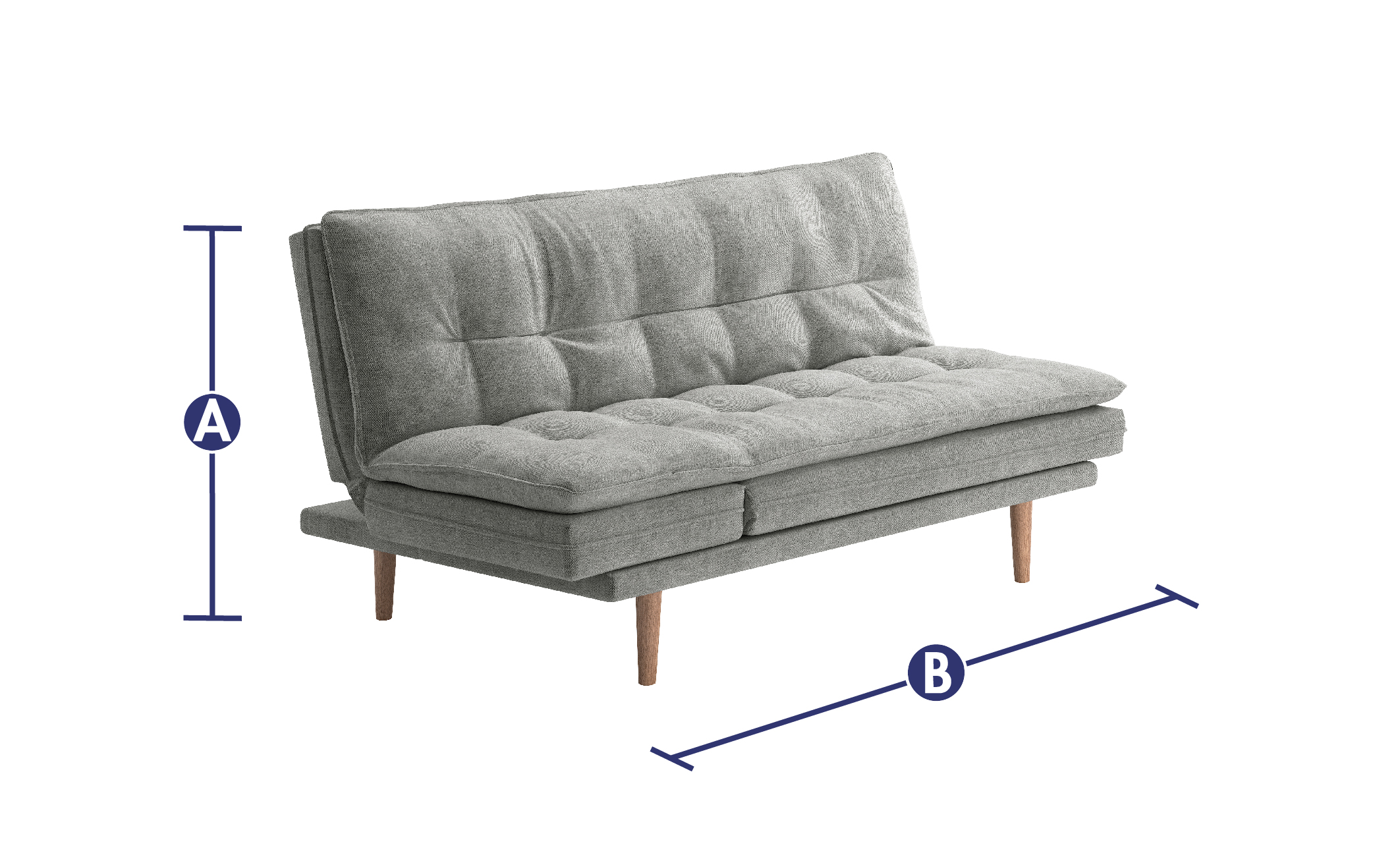 Fine Dublin 3 Seater Clic Clac Chaise Sofa Bed All Sofa Beds Alphanode Cool Chair Designs And Ideas Alphanodeonline